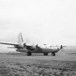 B-32 Dominator bomber at the airfield