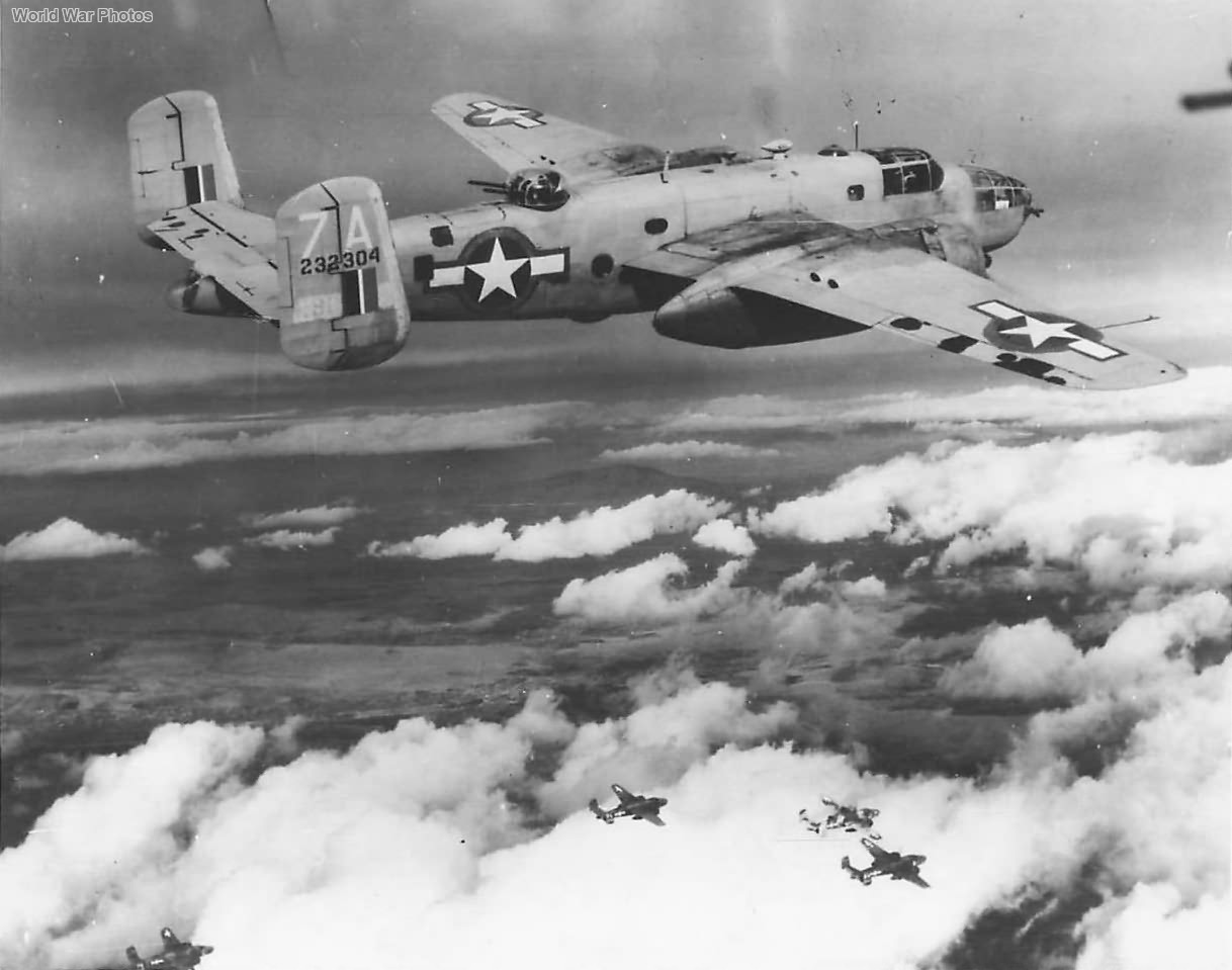 B-25C 7A of the 340th BG during Raid on Sibenik