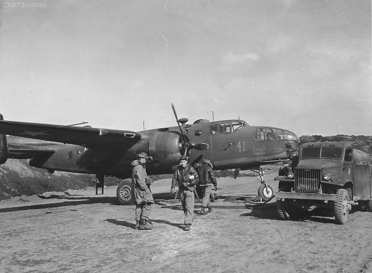 B-25D 41-29741 73rd BS in Alaska 1943