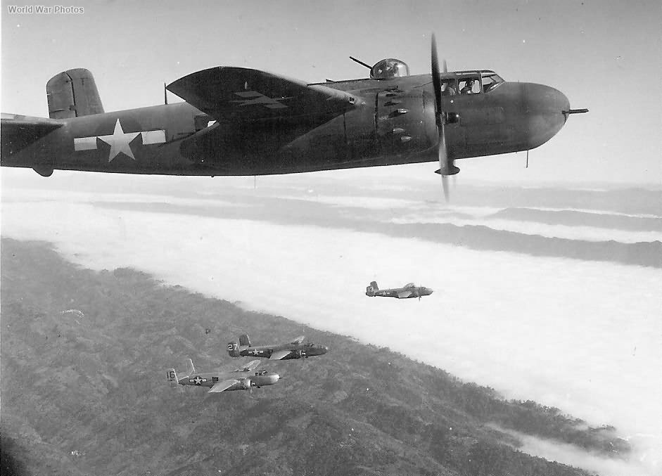 B-25H of the 12th Bomb Group over Italy 5