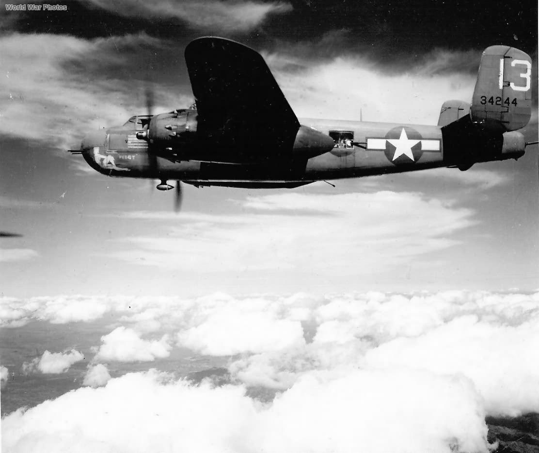 "B-25H 43-4244 ""Peggy"" of the 12th BG"