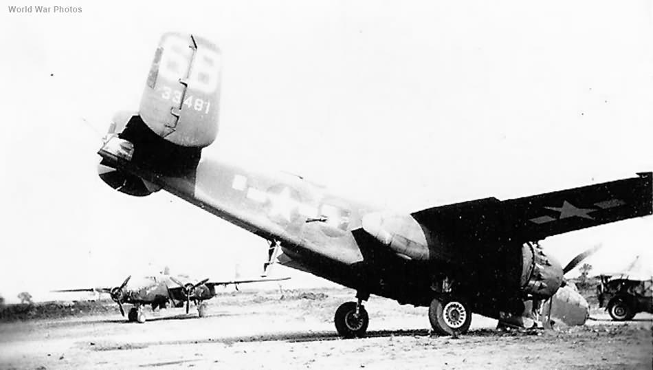 Crashed B-25 43-3481 6B