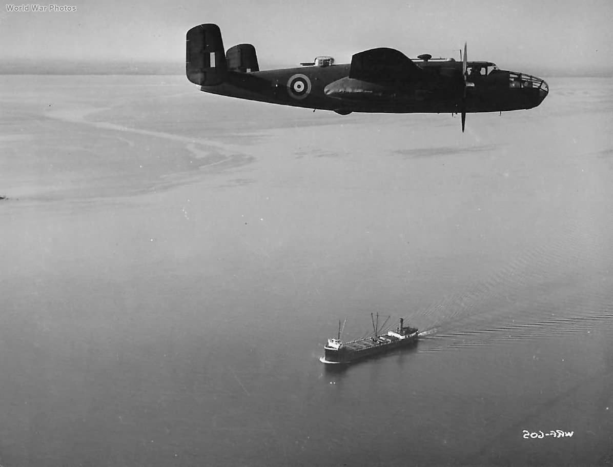 B-25 Leaves Ferry Command in Montreal for trip across Sea 1942