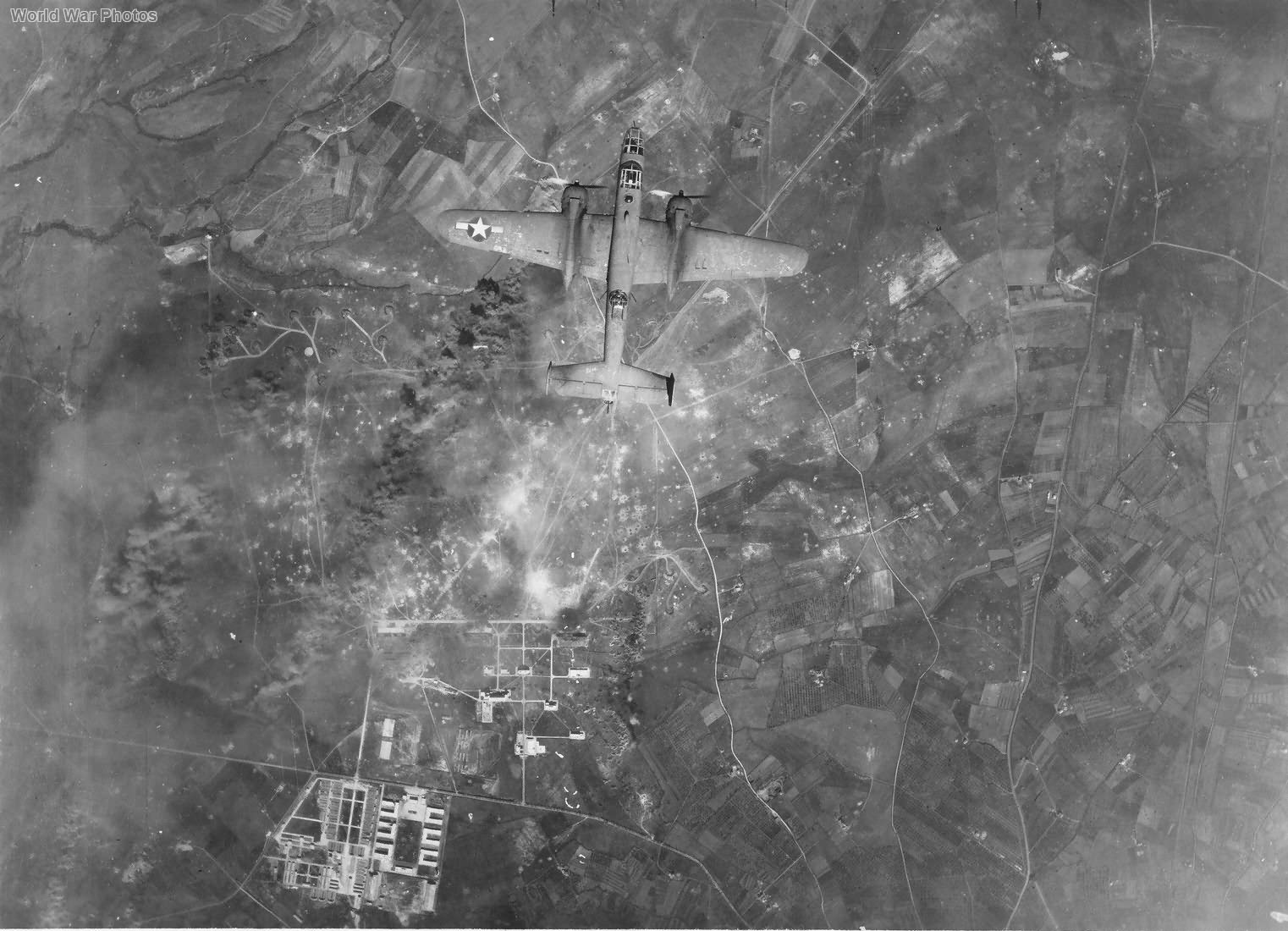 B-25 bombing airfield Viterbo 1944