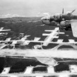 B-25 43-27791 448th BS 321st BG flying over Solenzara airfield 5sep44