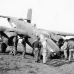 B-25 Crashed Nose Down on Airfield Italy
