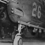 B-25 with rocket launcher in nose at Wright Field