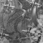 Mitchells bomb Galliate Road Bridge Near Milan 1944