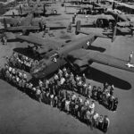 North American B-25 assembly line