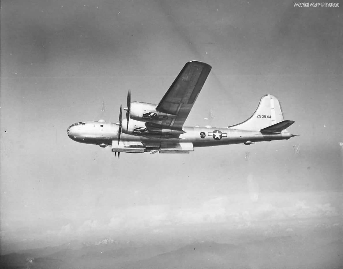 B-29A 42-93844 in flight with bomb door open