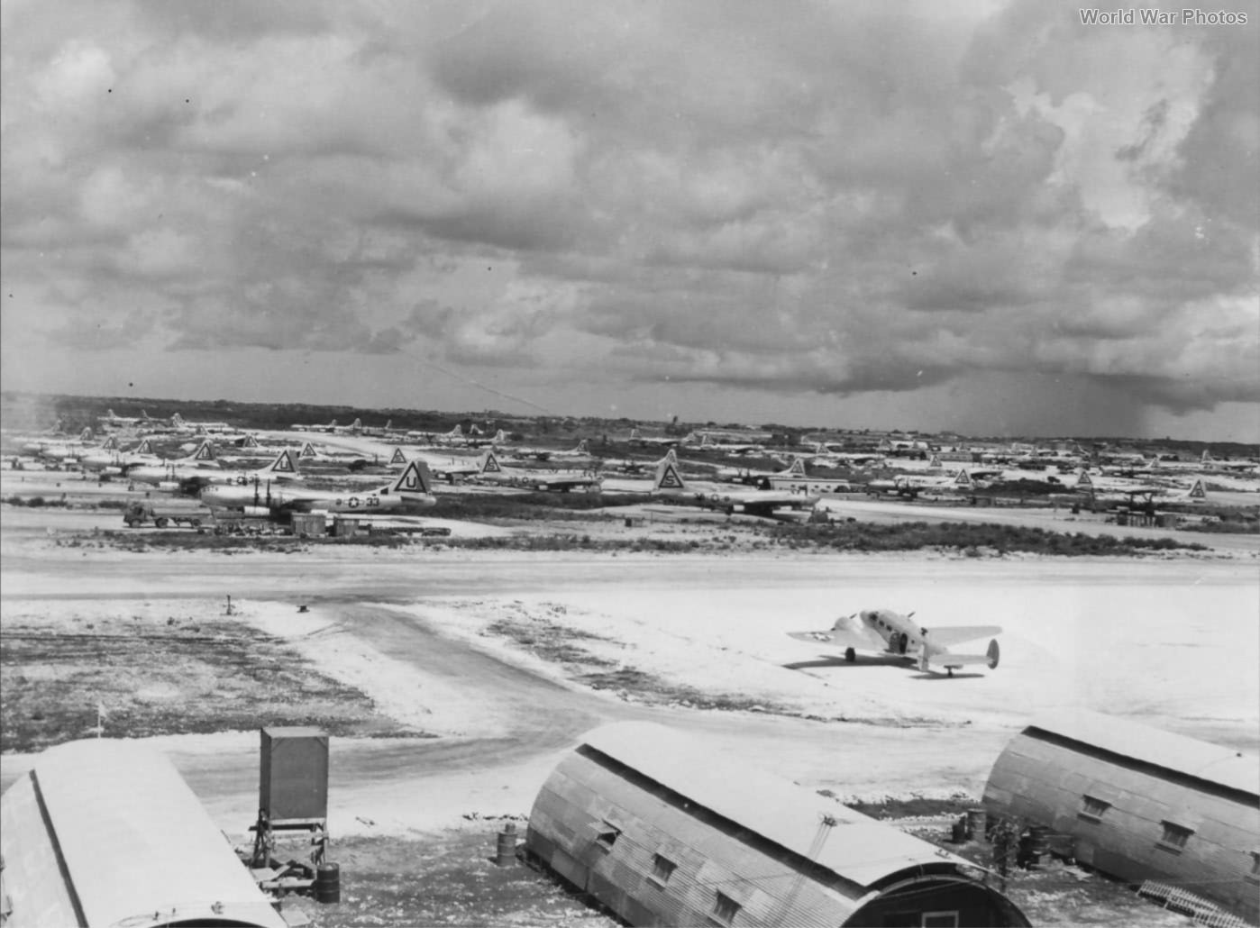 B-29 bombers of the 40th and 462nd BG Tinian