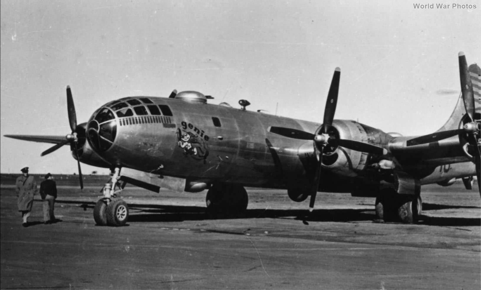 """B-29 42-63455 """"Genie"""" of the 40th BG, 25th Bomb Squadron Tinian 1945"""