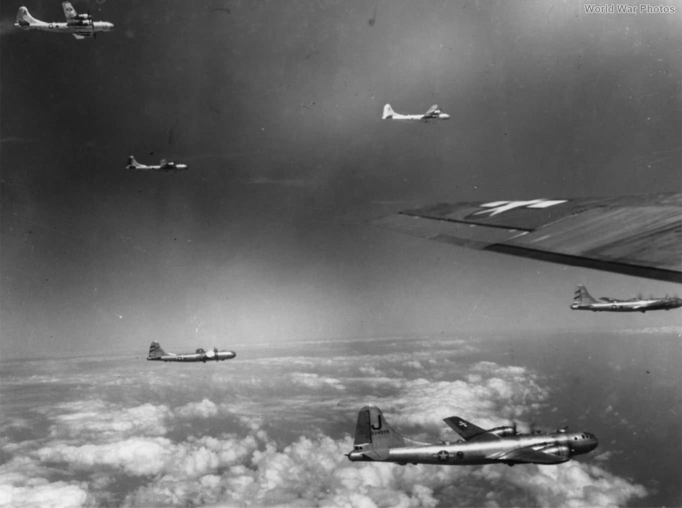 B-29 42-24505 of the 462nd BG over Formosa