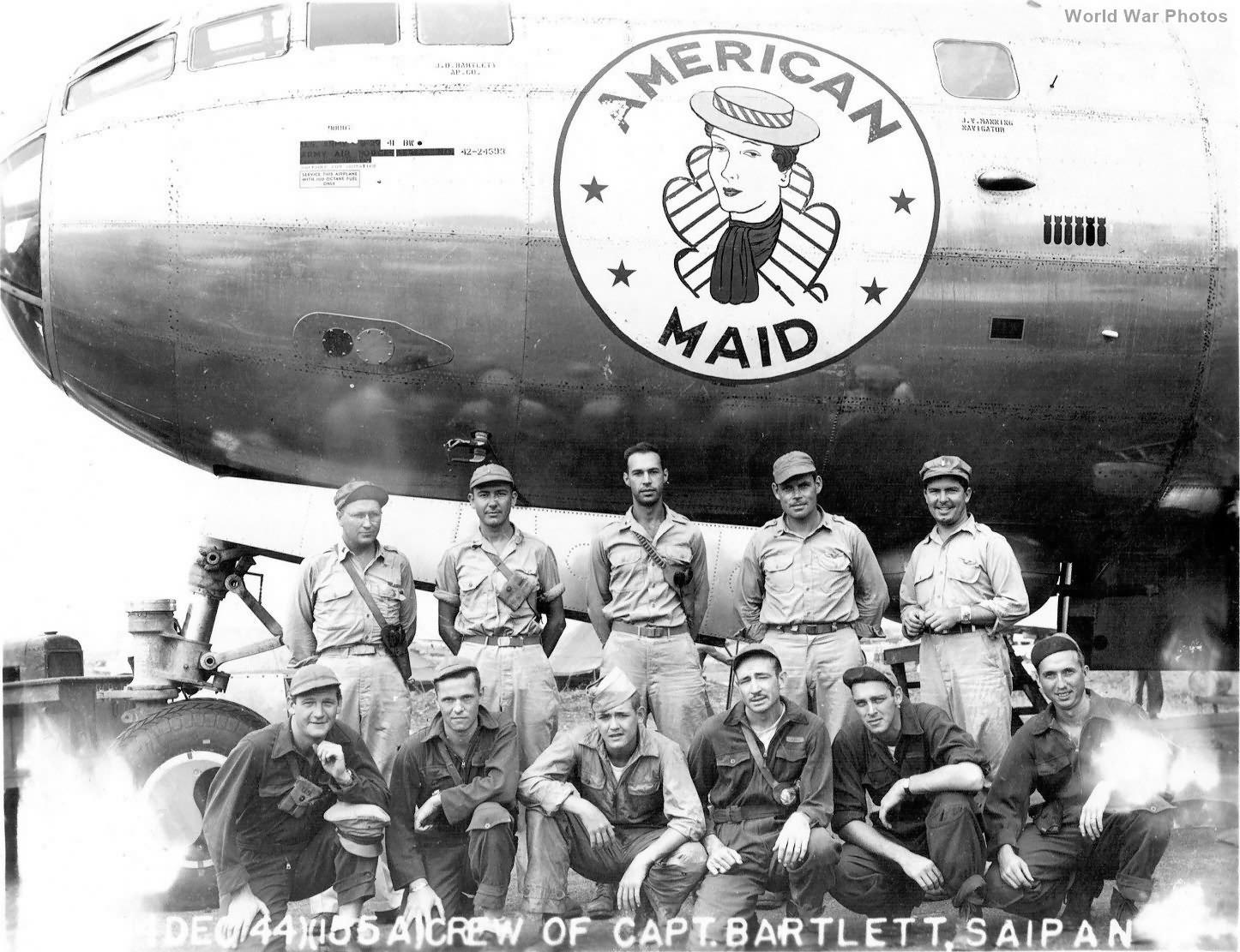 B-29 42-24593 American Maid of the 497th BG, 869th BS Saipan