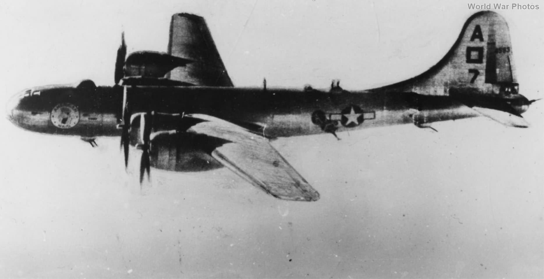 """B-29 42-24593 """"American Maid"""" of the 869th Bomb Squadron, 497th Bomb Group"""