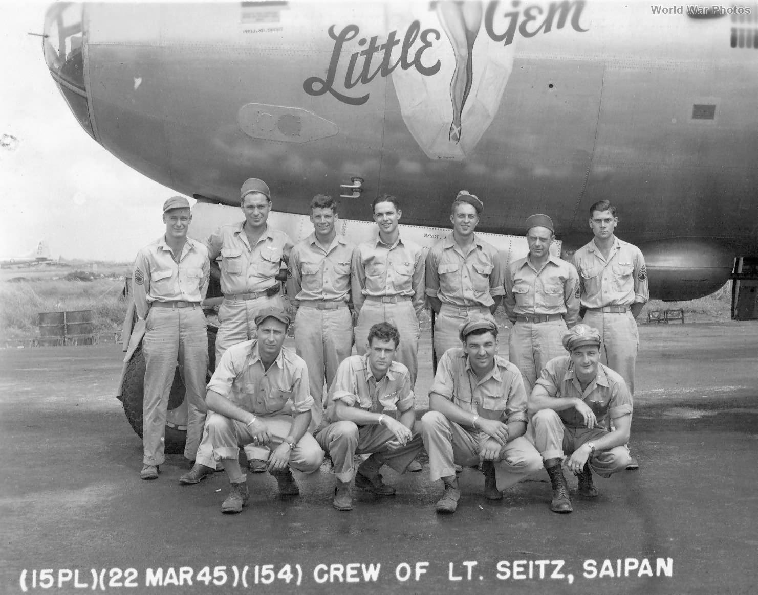 """B-29 42-24596 """"Little Gem"""" of the 497th BG, 869th BS Saipan"""