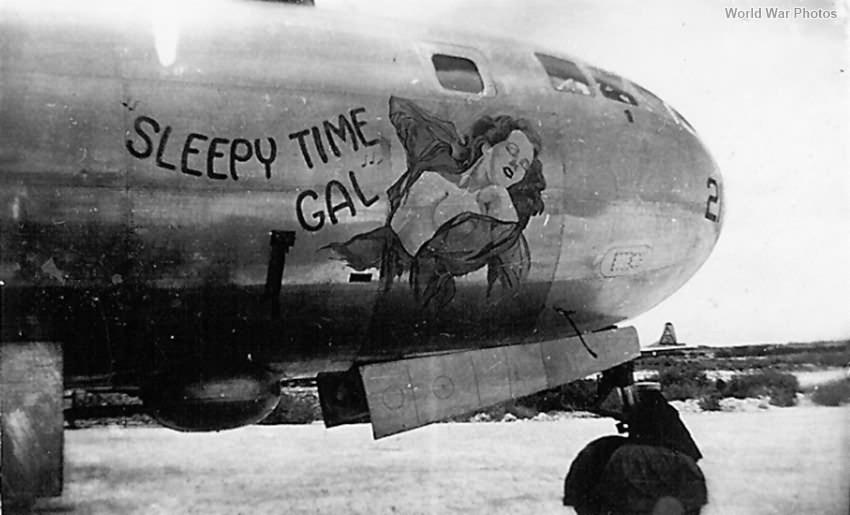 B-29 42-24620 SLEEPY TIME GAL of the 40th BG