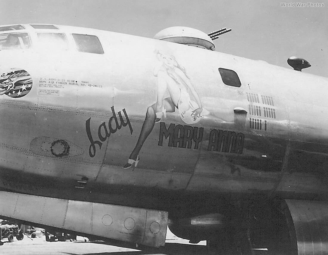 "B-29 42-24625 ""Lady Mary Anna"" of the 498th BG"