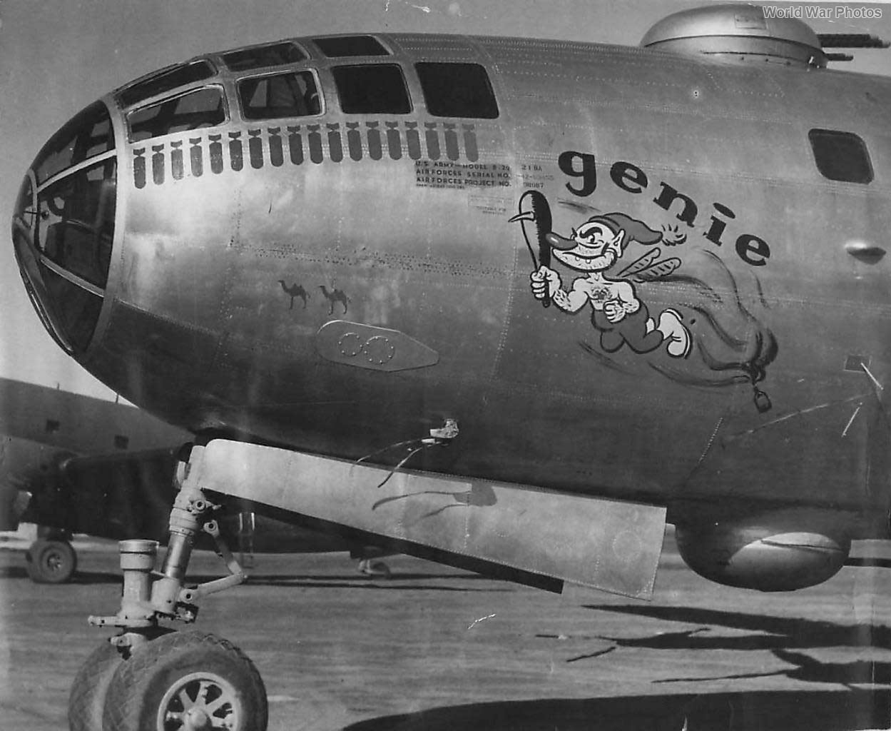 "B-29 42-63455 ""Genie"" of the 40th BG 1945"