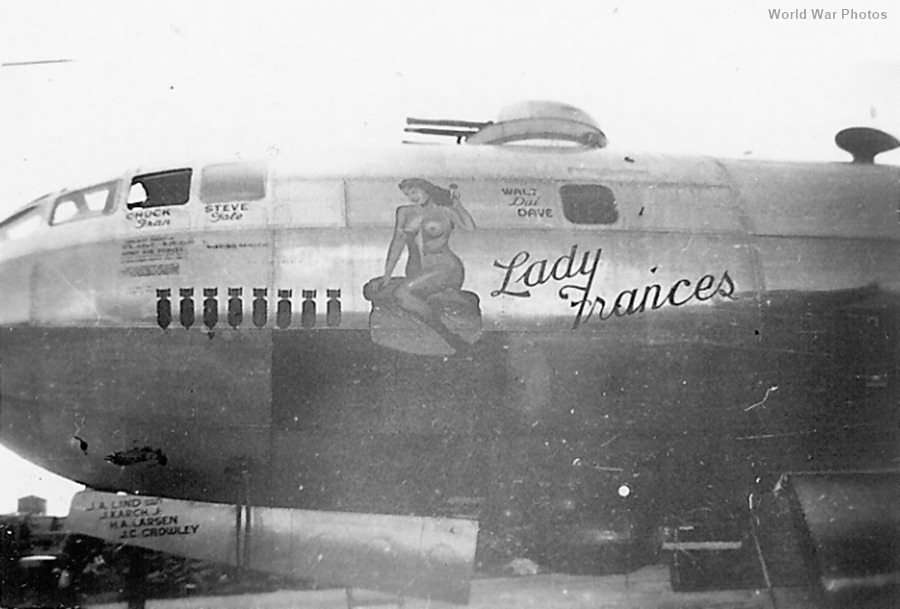 "B-29 44-61670 ""Lady Frances"" of the 444th BG"