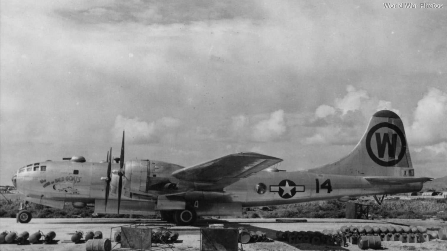 """B-29 44-70005 """"The Herd of Bald Goats"""" of 482nd BS, 505th BG"""