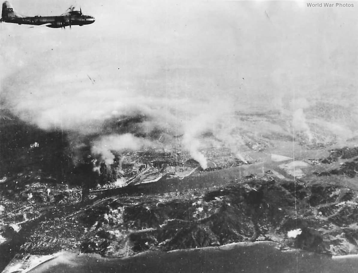 B-29 of 468th BG over Yawata during August 20, 1944 raid