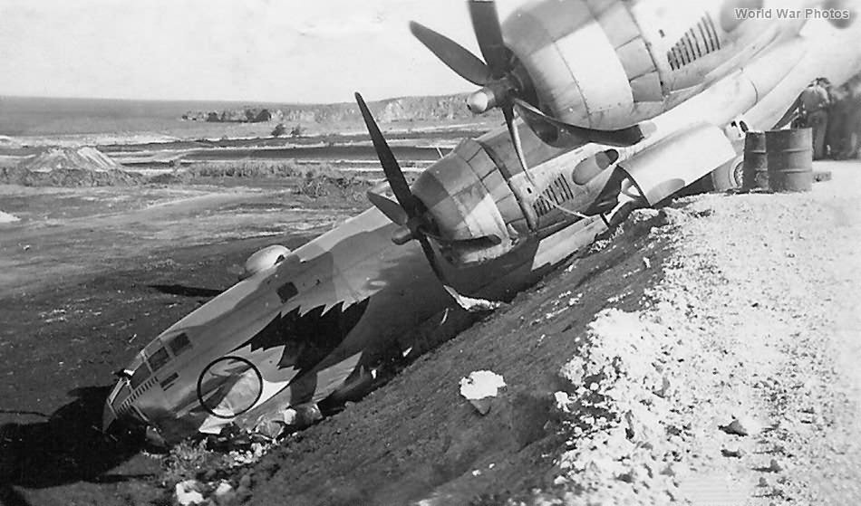 B-29 of the 509th BG crashed in ditch
