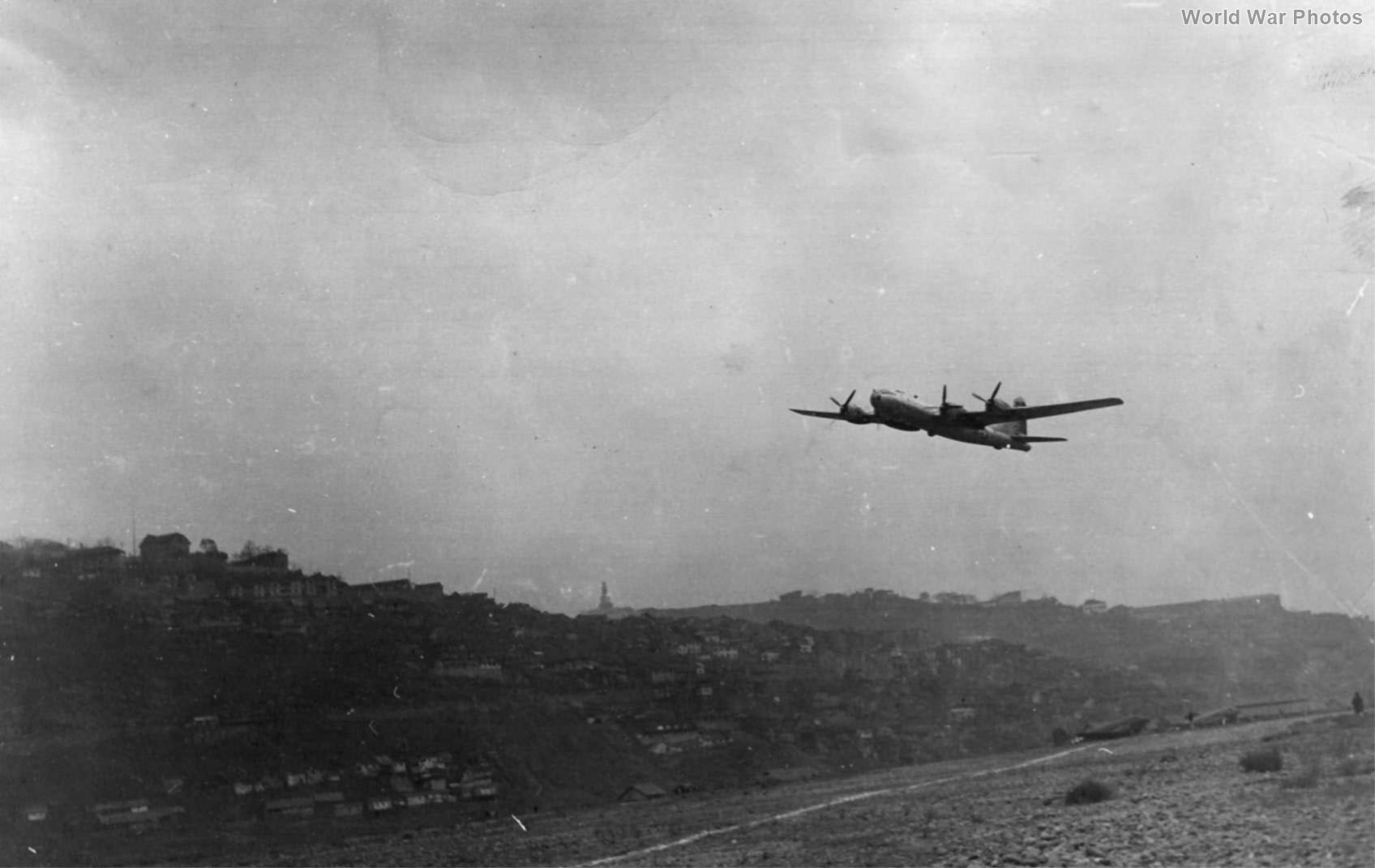 "B-29 ""Dottie"" take off from Chungking 3 December 1944"