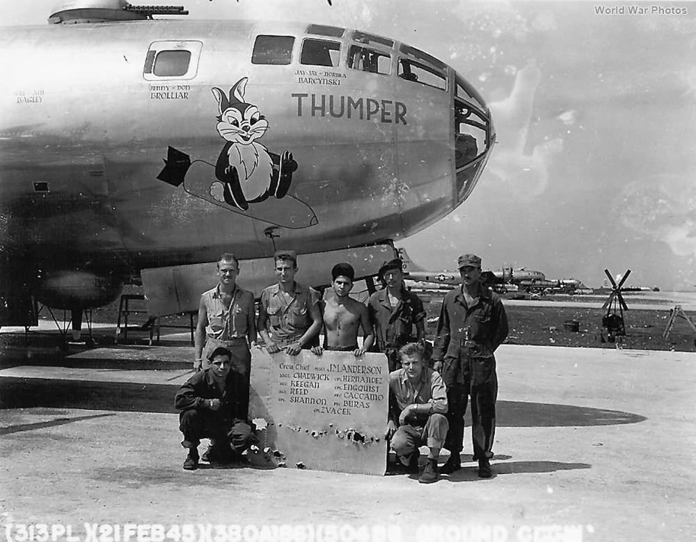 B-29 Thumper of 504th BG 21 February 1945