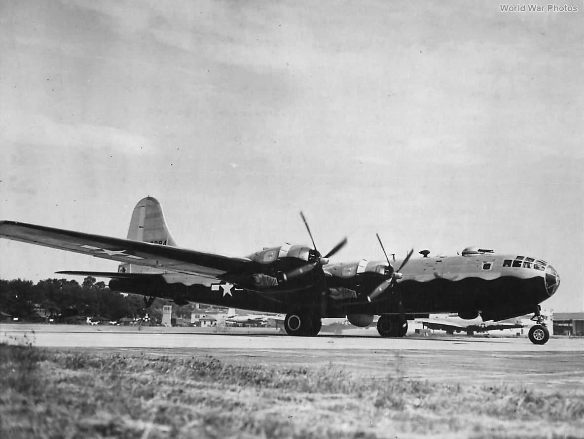 B-29 with black underside for night raids over Japan 1945
