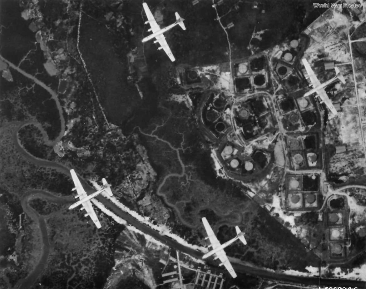 B-29s of XXth BC attack Singapore Naval Base 1945