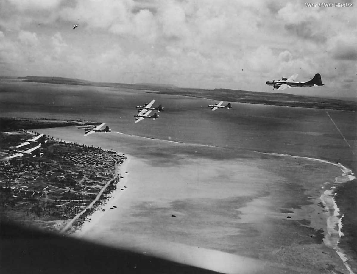 Formation of B-29 prepare for Tokyo Raid 5 December 1944 Saipan