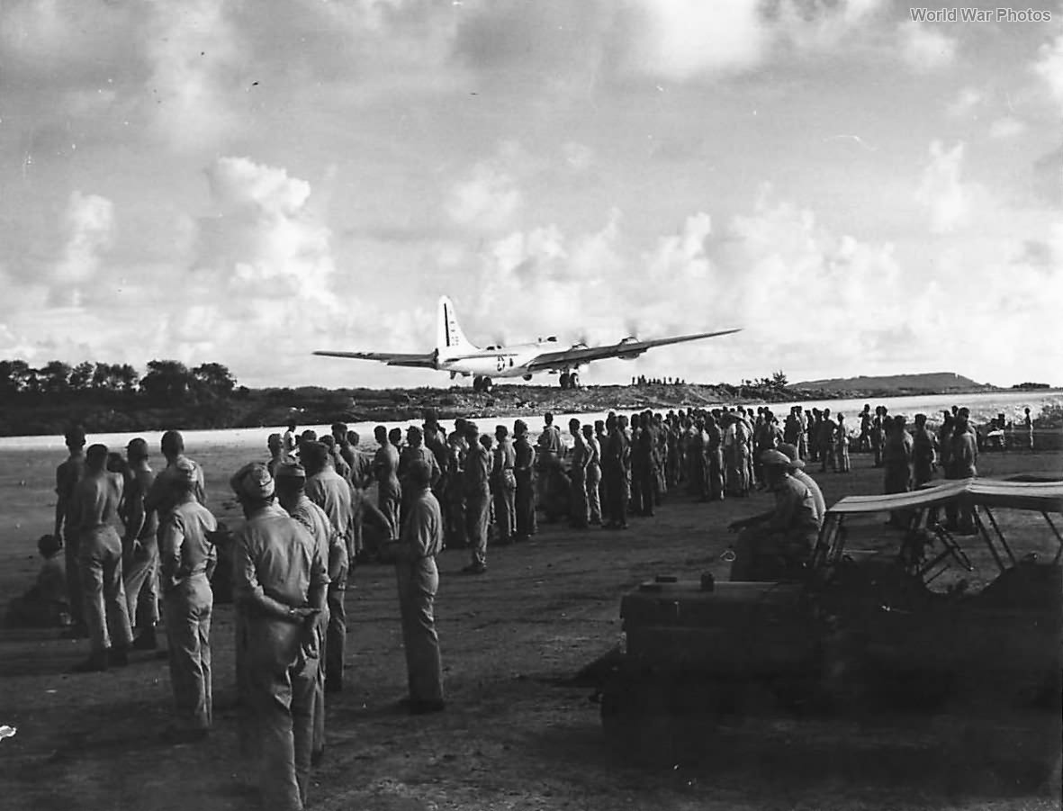 Ground crews watch 1st B-29 leave Saipan for attack on Tokyo 44
