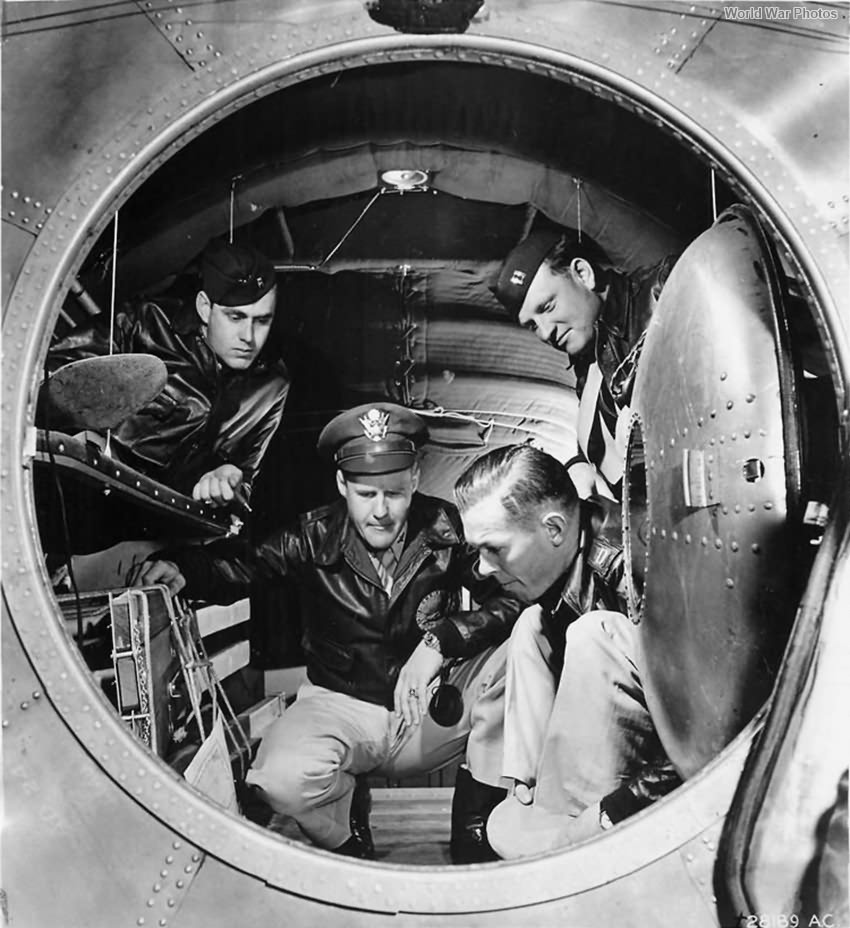 Interior view of B-29 rear cabin