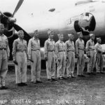 Aircrew posed with B-29 City of Alhambra