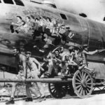 Crew of 497th Bomb Group, 886th BS B-29 42-24598 Waddy's Wagon