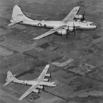 Pair of B-29 bombers in flight '44
