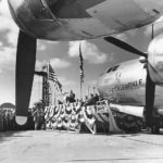 "Unveiling of B-29 Superfortress ""The Ernie Pyle"""