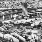 C-46 and P-40 on Assembly Line in Curtiss Plant 1942