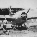 Burning Marine F4F-4 Wildcat Henderson Field Guadalcanal
