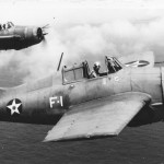 F4F-3A Wildcats of VF-3: F-1 pilot LCdr John Thach and F-13 pilot Lt Edward O'Hare April 1942