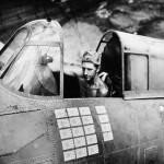 F4F Wildcat Sgt. R.W.Greenwood in cockpit Henderson Field Guadalcanal