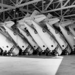 F4F Wildcat fuselages in Grumman Plant Tat Bethpage Long Island New York