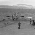 Martlet of FAA trials aboard HMS Victorious September 1942