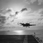 US Navy Grumman Wildcat F4F Takes Off from Carrier 1943