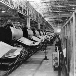 Chance Vought F4U Corsairs on Assembly Line in Stratford Plant 1943