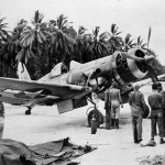 F4U-1A Corsair 5 of VF-17 maintenance at an airfield in the Solomon Islands on March 6 1944