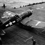 F4U-1D Corsair 122 on board the carrier USS Bunker Hill CV-17 – May 6, 1945