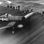 F4U-1D Corsair 88 on board the carrier USS Essex CV-9 on January 25, 1945