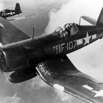 F4U-1D Corsair F-107 of VMF-224 flown by Capt Delong